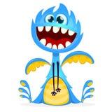 Happy cartoon monster vector illustration