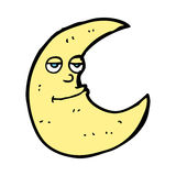 Happy cartoon moon Stock Photo