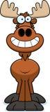 Happy Cartoon Moose Stock Photography
