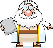 Happy Cartoon Moses Stock Photo