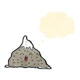 Happy cartoon mountain Royalty Free Stock Photography