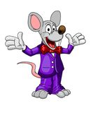 Happy cartoon mouse or rat in a suit Royalty Free Stock Photography