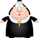 Happy Cartoon Nun Stock Photo