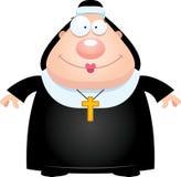 Happy Cartoon Nun Stock Photo