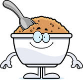 Happy Cartoon Oatmeal Royalty Free Stock Photo
