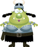 Happy Cartoon Orc Royalty Free Stock Photos