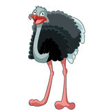 Happy Cartoon Ostrich Royalty Free Stock Photography