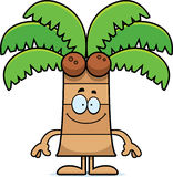 Happy Cartoon Palm Tree Stock Photography