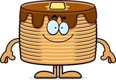 Happy Cartoon Pancakes Royalty Free Stock Photo