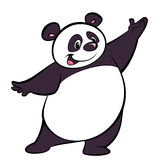 Happy cartoon panda character presenting Royalty Free Stock Images