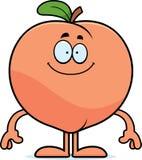 Happy Cartoon Peach Stock Images
