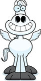 Happy Cartoon Pegasus Royalty Free Stock Images