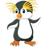Happy cartoon penguin rockhopper. Cartoon Stock Photography