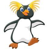 Happy cartoon penguin rockhopper. Illustration of Happy cartoon penguin rockhopper on white background Royalty Free Stock Image