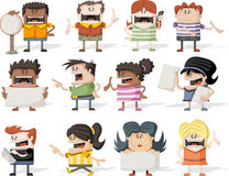 Happy cartoon people Royalty Free Stock Image