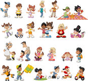 Happy cartoon people. Group of cute happy cartoon people Stock Photography