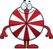 Happy Cartoon Peppermint. A cartoon illustration of a peppermint looking happy stock illustration