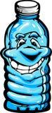 Happy Cartoon Plastic Water Bottle Illustration Stock Images