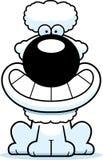 Happy Cartoon Poodle. A cartoon illustration of a poodle looking happy stock illustration