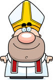 Happy Cartoon Pope Stock Photos