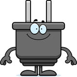 Happy Cartoon Power Plug Stock Images