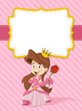 Happy cartoon princess Royalty Free Stock Photography