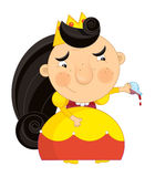 Happy cartoon princess - isolated character Royalty Free Stock Image