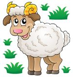 Happy cartoon ram Royalty Free Stock Photos