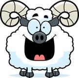 Happy Cartoon Ram Stock Photos
