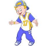 Happy cartoon rapper boy Stock Photography
