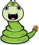 Happy Cartoon Rattle Snake Stock Photo