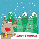 Happy cartoon reindeer Royalty Free Stock Photography