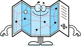 Happy Cartoon Road Map stock vector. Illustration of road ... on