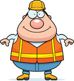 Happy Cartoon Road Worker Royalty Free Stock Images