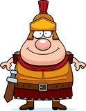 Happy Cartoon Roman Centurion Royalty Free Stock Photography
