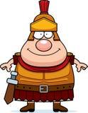 Happy Cartoon Roman Centurion. A cartoon illustration of a Roman Centurion looking happy Royalty Free Stock Photography