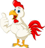 Happy cartoon rooster thumb up Stock Images