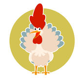 Happy cartoon rooster Royalty Free Stock Photo
