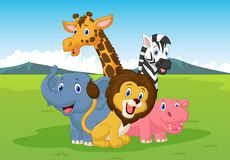 Happy cartoon safari animal Stock Photo