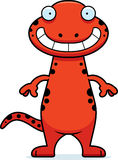 Happy Cartoon Salamander Royalty Free Stock Photos