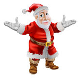 Happy cartoon Santa Stock Photography