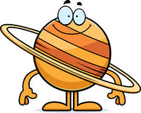 Happy Cartoon Saturn Royalty Free Stock Images