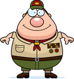 Happy Cartoon Scoutmaster Stock Image