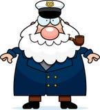 Happy Cartoon Sea Captain Stock Photography