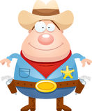 Happy Cartoon Sheriff Stock Photo