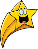 Happy Cartoon Shooting Star Stock Images