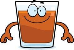 Happy Cartoon Shot Glass Royalty Free Stock Photo