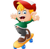 Happy Cartoon Skateboard Boy Royalty Free Stock Photos