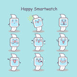 Happy cartoon smart watch. Set, great for your design Royalty Free Stock Image