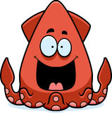 Happy Cartoon Squid Stock Images